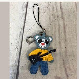 PRADA Bear Keychain Guitar Bag Charm